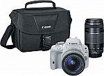 Canon EOS SL1 DSLR Camera + 18-55mm STM + 75-300mm III Lenses $500