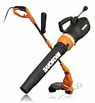 WG516 + WG119 WORX Electric Turbine Blower & 2-in-1 Trimmer/Edger $45
