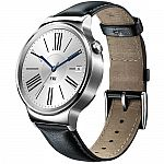 Huawei Watch 42mm Smartwatch (Stainless Steel, Black Leather Band - Open Box) $150