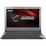 "ASUS ROG G752VT-DH74 17"" Gaming Laptop (Core i7-700HQ 25GB 1TB+256 GB 1080p GTX 970M 6GB) $1599"