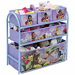 Disney Fairies Metal Multi-Bin Toy Organizer, Lavender $15