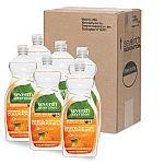 Seventh Generation Natural Dish Liquid, Clementine Zest & Lemongrass Scent, 25-Ounce Bottles (Pack of 6) $2.25
