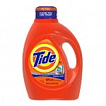 Tide 92-Oz or 100-Oz HE Laundry Detergent $8.98