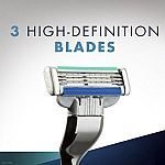 Gillette Mach3 Turbo Men's Razor + 2 Razor Cartridges $4.57