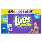 Luvs Ultra Leakguards Diapers, One Month Supply, Size 4, 192 Count $23