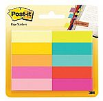 10-Pads of Post-it Page Markers 1/2 in x 1 3/4 in Assorted Bright Colors $3