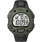 Timex Men's Ironman 30-Lap Full Size Green Bezel & Black Strap Sport T5K520 $19