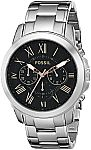 Fossil Men's FS4994 Grant Chronograph Stainless Steel Watch $45