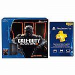 PlayStation 4 Call of Duty 500GB Bundle+ PlayStation Plus Membership 1 Year $300