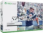 Xbox One S + 4k UltraHD Movie + Wireless Controller, Madden NFL 17 1TB Bundle $349, Halo Collection 500GB Bundle $299