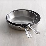 All-Clad d5 Stainless-Steel French Skillets, Set of 2 for $99.95