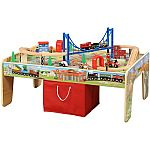 50-Piece Train Set with 2-in-1 Activity Table $37