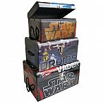3-Piece Star Wars Darth Vader & R2D2 Flat Top Trunk Set $12.80