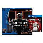 Sony PlayStation 4 500gb Bundle w/ Call of Duty Black Ops III & NBA 2K17 $300
