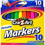 10-Count Cra-Z-Art Washable Markers or 12-Count Cra-Z-Art Colored Pencils $0.50
