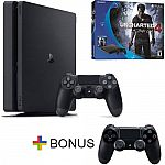 Sony PS4 Slim 500GB Uncharted 4 + Extra Dualshock $300