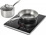 Insignia 4-Piece Induction Cooktop Set Black $50