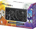 Nintendo - New 3DS XL Solgaleo Lunala Black Edition + Nintendo Pokemon Sun & Pokemon Moon games (Pre-Order) $200