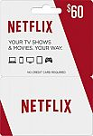 $60 Netflix Gift Card + $10 Best Buy Gift Card for $60