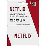 $60 Netflix Gift Card + $10 Best Buy Gift Card $60