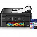 Brother MFC-J460DW All-in-One Inkjet Printer + Extra Black Ink Cartridge Kit LC203BK $60