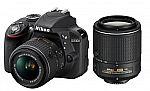 Nikon D3300 24.2MP DSLR Camera + 18-55mm & 55-200mm VR II Lenses (Refurbished) $389