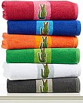 Home & Bath, Lacoste Signature Logo Bath Towel 100% Terry Cotton 2 for $16