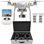 DJI Phantom 3 Professional Quadcopter with 4K Camera, 3-Axis Gimbal with Extra Battery, Hard-shell Backpack, and Remote Controller $899