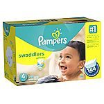 Pampers Swaddlers Diapers Size 4, 144 ct $24.50 (Amazon Family)