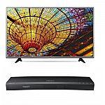 "LG 49UH6030 49"" 4K Ultra HD Smart TV + Samsung UBD-K8500 3D 4K Blu Ray Player $547"