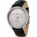 Baume and Mercier Clifton Dual Time Automatic Silver Dial Mens Watch 10112 $1099 (Orig. $3350)