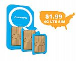 FreedomPop 3 in 1 GSM LTE Sim $1.99