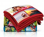 "40""x60"" Custom Photo Collage Fleece Blanket $15"