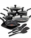 T-Fal Culinaire 16-Pc. Cookware Set + $15 Macys Money $60 AR