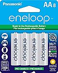 8-Pack Eneloop AA Pre-Charged Rechargeable Batteries $17.84