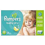 Pampers Baby Dry Diapers Size 6, 128 Count $23.10