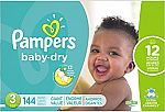 Pampers Baby Dry Diapers Size 5, 112 Count $23.64