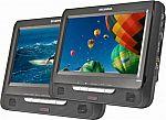 Sylvania 9″ Dual Screen Portable DVD Player $40 (Org $130) + FS
