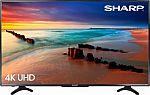"Sharp 50"" Class LED 2160p Smart 4K Ultra HD TV Roku TV $380"