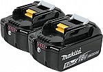 2-Pack Makita BL1850B-2 18V LXT Lithium-Ion 3.0Ah  Battery $88 (Was $159)