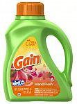 50-oz Gain HE Liquid Laundry Detergent (Island Fresh) $3 and More