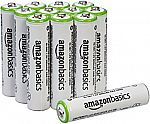 12-Pack AmazonBasics AAA (800 mAh) Rechargeable Batteries $12