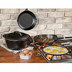 Kohl's Cardholders: 5-Pc Lodge Cast-Iron Cookware Set + $10 Kohl's Cash $63