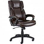 Staples Kelburne Luxura Office Chair, Brown $59.99