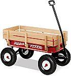 Radio Flyer Full Size All-Terrain Steel & Wood Wagon $89