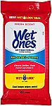 200-Count Wet Ones Antibacterial Hand Wipes $12
