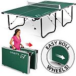 EastPoint Sports Easy Setup Fold and Store Table Tennis Table with 15mm Top $142