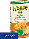 12-Pack 6oz. Annie's Organic Macaroni and Cheese (Aged Cheddar) $5.28