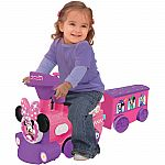 Disney Minnie or Mickey Mouse 2-in-1 Battery-Powered Train with Trailer $15.86 (Was $60)