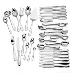 Lenox 70-Piece 18/10 Stainless Steel Flatware Set (Assorted Styles) $70, 5-Piece CeramaBake White Ceramic Non-Stick Bakeware Cooking Set $30